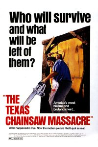 "Poster for the movie ""The Texas Chain Saw Massacre"""