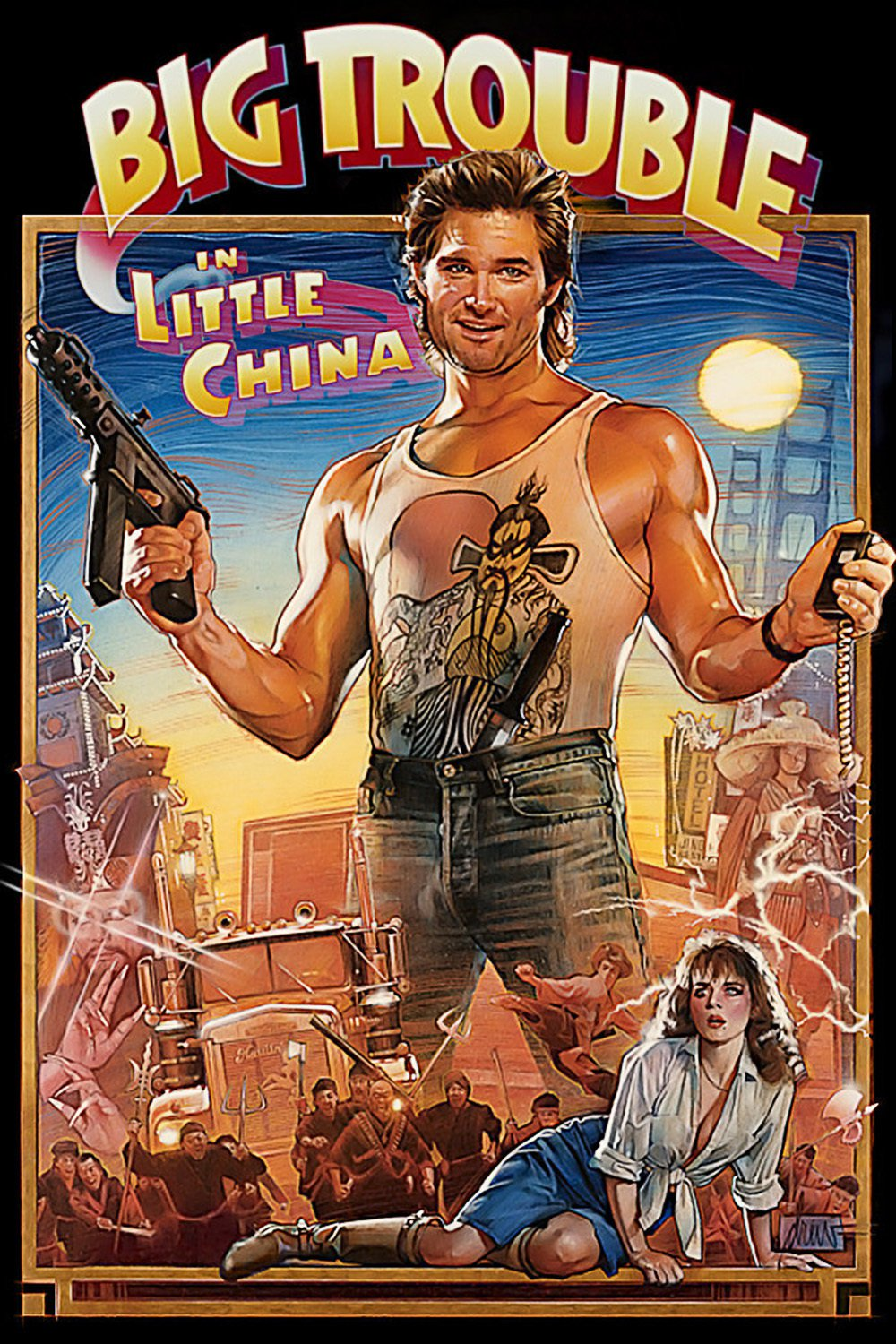 "Poster for the movie ""Big Trouble in Little China"""