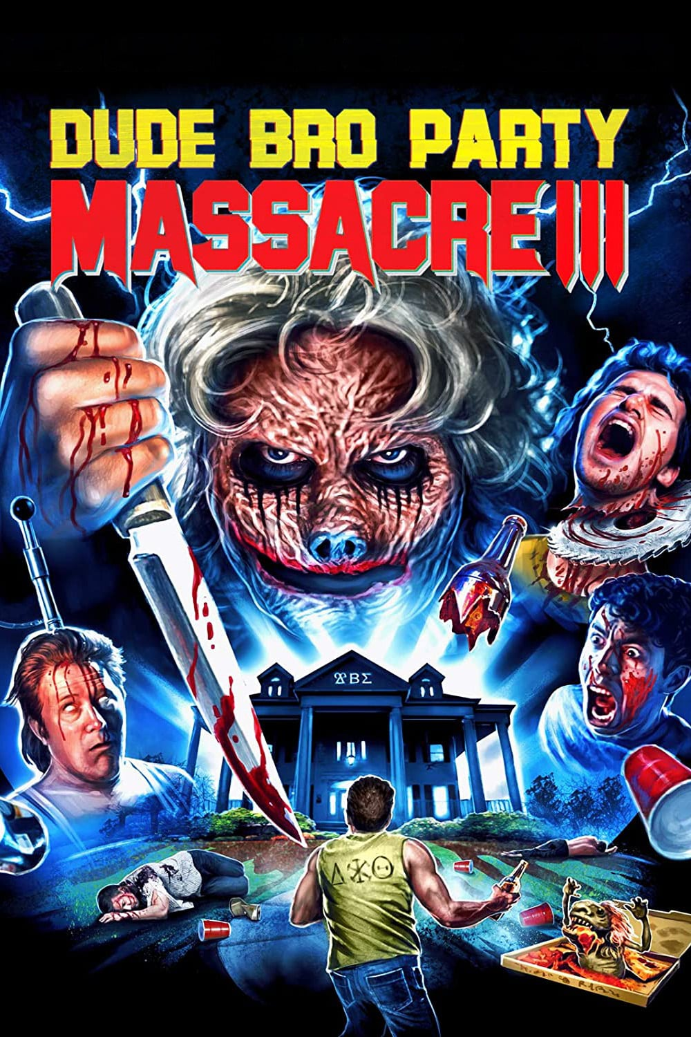 """Poster for the movie """"Dude Bro Party Massacre III"""""""